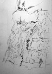 Original sketch of tree bark
