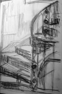 Original sketch of staircase