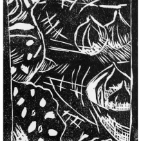 my first lino print