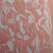 Tree bark lino print