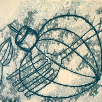 4 Whisk and fork monoprint