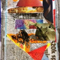 Collage based on a drawing I did from Sir John Soames Museum