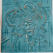 Munisha Gupta linoprint