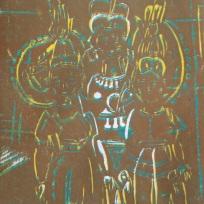 Munisha Gupta lino print
