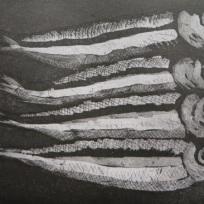 6 woodcut, Joan HIggins