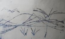 2 monoprint, Joan Higgins