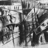 large charcoald drawing